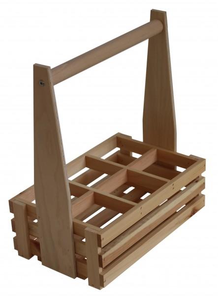 Holz Flaschenträger 6er.