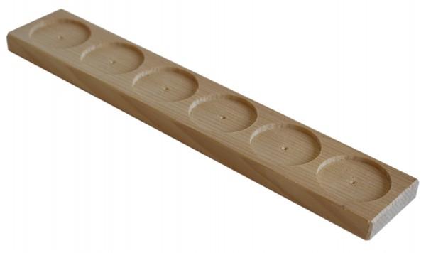 Holz - Glas - Trays - 6er